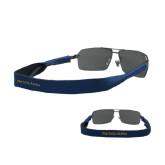 Croakies Navy Thin Band Sunglasses Strap-Wordmark Flat