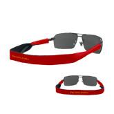 Croakies Red Thin Band Sunglasses Strap-Wordmark Flat