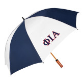 62 Inch Navy/White Umbrella-Official Greek Letters Two Color