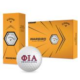 Callaway Warbird Golf Balls 12/pkg-Greek Letters Stacked