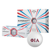 Callaway Supersoft Golf Balls 12/pkg-Official Greek Letters Two Color