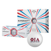 Callaway Supersoft Golf Balls 12/pkg-Greek Letters Stacked