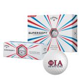 Callaway Supersoft Golf Balls 12/pkg-Greek Letters Stacked