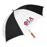 62 Inch Black/White Umbrella-Greek Letters Stacked