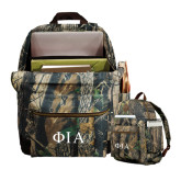 Heritage Supply Camo Computer Backpack-Official Greek Letters Two Color