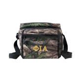 Big Buck Camo Junior Sport Cooler-Official Greek Letters Two Color