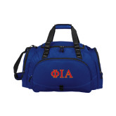 Challenger Team Navy Sport Bag-Official Greek Letters Two Color