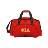Challenger Team Red Sport Bag-Official Greek Letters Two Color
