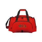 Challenger Team Red Sport Bag-Official Greek Letters Two Color
