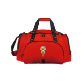 Challenger Team Red Sport Bag-Badge