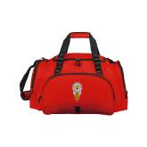Challenger Team Red Sport Bag-Badge