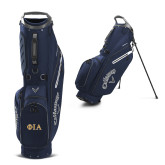 Callaway Hyper Lite 4 Navy Stand Bag-Official Greek Letters Two Color