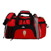 High Sierra Red/Black Switch Blade Duffel-Badge