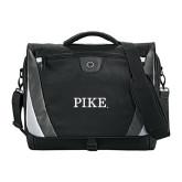 Slope Black/Grey Compu Messenger Bag-PIKE