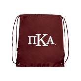Nylon Maroon Drawstring Backpack-Official Greek Letters