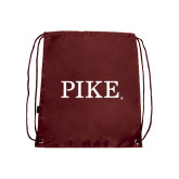 Nylon Maroon Drawstring Backpack-PIKE