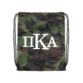 Nylon Camo Drawstring Backpack-Official Greek Letters
