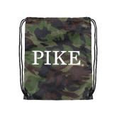 Nylon Camo Drawstring Backpack-PIKE