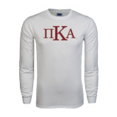White Long Sleeve T Shirt-Official Greek Letters