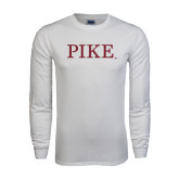 White Long Sleeve T Shirt-PIKE