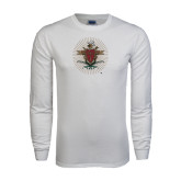 White Long Sleeve T Shirt-Coat of Arms