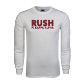 White Long Sleeve T Shirt-Rush