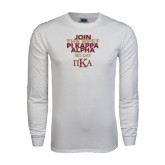 White Long Sleeve T Shirt-Join The Best