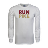 White Long Sleeve T Shirt-RUN PIKE