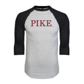 White/Black Raglan Baseball T-Shirt-PIKE
