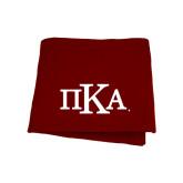 Maroon Sweatshirt Blanket-Official Greek Letters