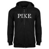 Black Fleece Full Zip Hoodie-PIKE