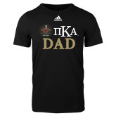 Adidas Black Logo T Shirt-Dad with Crest