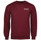 Maroon Fleece Crew-PIKE