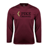 Performance Maroon Longsleeve Shirt-PIKE University