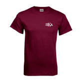 Maroon T Shirt-Official Greek Letters