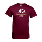 Maroon T Shirt-Stacked Pi Kappa Alpha