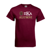 Maroon T Shirt-Alumni with Crest