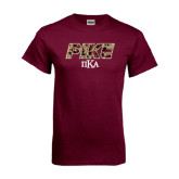 Maroon T Shirt-PIKE Digital Camo