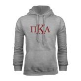 Grey Fleece Hoodie-Official Greek Letters