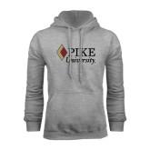 Grey Fleece Hoodie-PIKE University