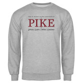 Grey Fleece Crew-PIKE Lockup