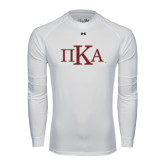 Under Armour White Long Sleeve Tech Tee-Official Greek Letters
