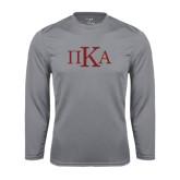 Performance Steel Longsleeve Shirt-Official Greek Letters
