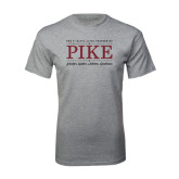 Grey T Shirt-PIKE Lockup