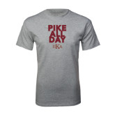 Grey T Shirt-PIKE All Day
