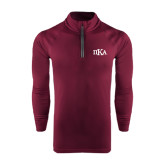 Under Armour Maroon Tech 1/4 Zip Performance Shirt-Official Greek Letters