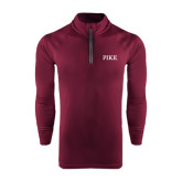 Under Armour Maroon Tech 1/4 Zip Performance Shirt-PIKE