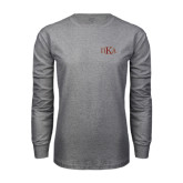 Grey Long Sleeve T Shirt-Official Greek Letters