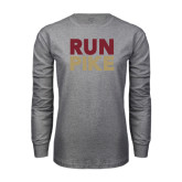 Grey Long Sleeve T Shirt-RUN PIKE