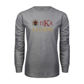 Grey Long Sleeve T Shirt-Alumni with Crest